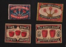 Collectible match box labels CHINA or JAPAN patriotic #924